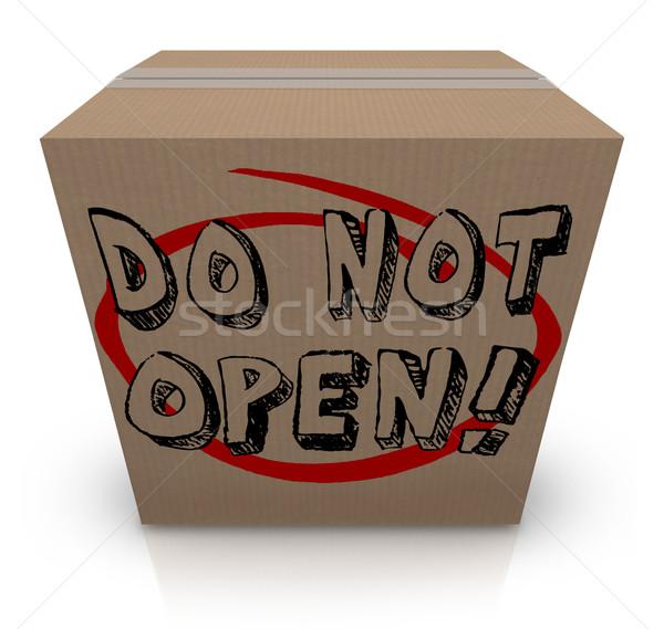 No abierto caja de cartón especial secreto confidencial Foto stock © iqoncept