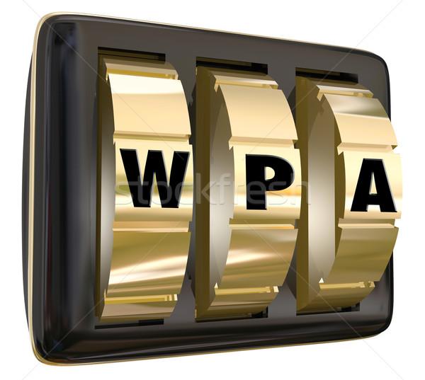 Wifi biztonságos hálózat számítógép internet védett Stock fotó © iqoncept
