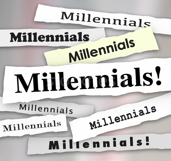 Millennials Newspaper Headlines Reports Latest Updates Stock photo © iqoncept