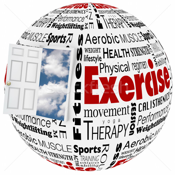 Exercise Physical Fitness Active Lifestyle Door to Opportunity Stock photo © iqoncept