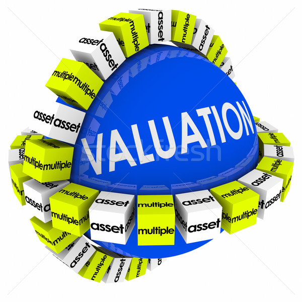 Valuation Assets Multiples Revenues Calculation Formula Sphere Stock photo © iqoncept