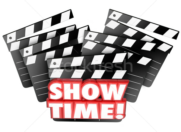 Show Time Movie Clappers Theatre Begin Playing Film Presentation Stock photo © iqoncept