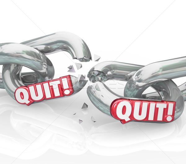 Quit Chain Links Breaking Leaving Retirement Ending Job Stock photo © iqoncept