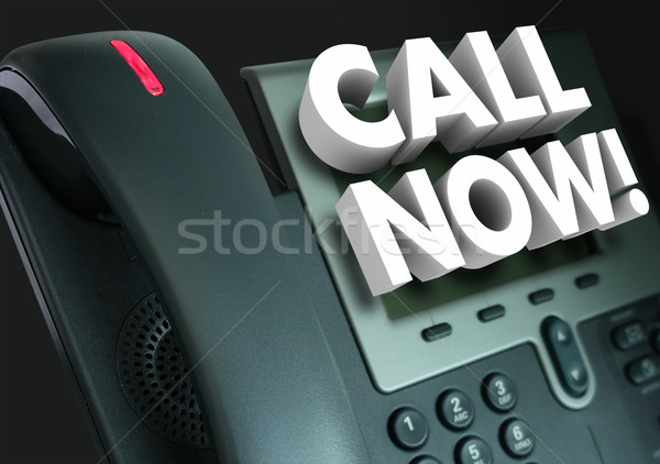 Call Now Office Telephone Customer Service Order Advertising Stock photo © iqoncept