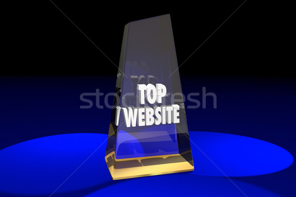 Top Website Best Online Digital Internet Award Words 3d Illustra Stock photo © iqoncept