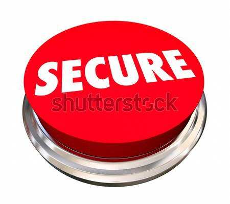 Secure Safety Protection Crime Prevention Button 3d Illustration Stock photo © iqoncept