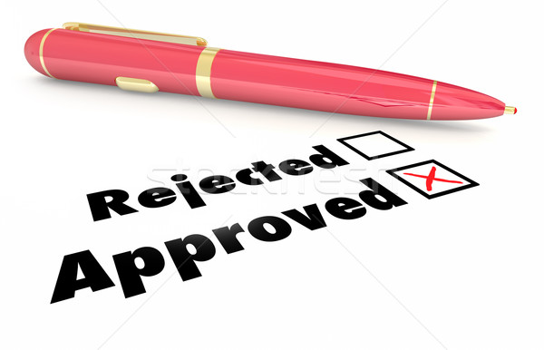Approved Vs Rejected Checklist Box Mark Pen 3d Illustration Stock photo © iqoncept