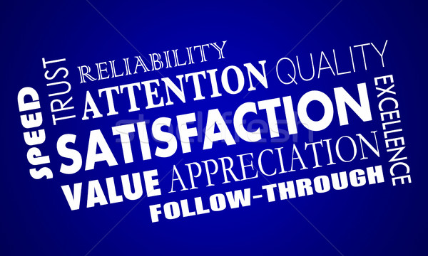 Satisfaction Word Collage Good Great Response 3d Illustration Stock photo © iqoncept