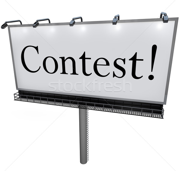 Contest Word on Billboard Raffle Drawing Lottery Stock photo © iqoncept