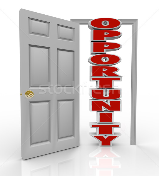Opportunity Knocks Door Opens to New Growth and Chances Stock photo © iqoncept