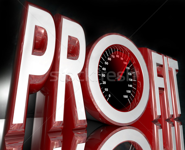 Profit Word Speedometer Improve Sales Increase Revenue Stock photo © iqoncept