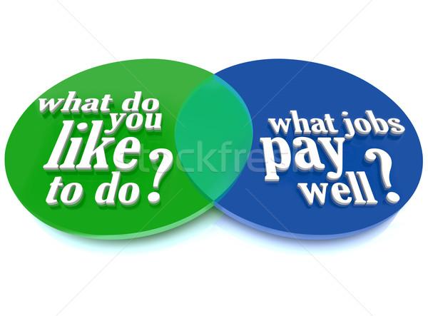 What Do You Like to Do Job Venn Diagram Advice Stock photo © iqoncept