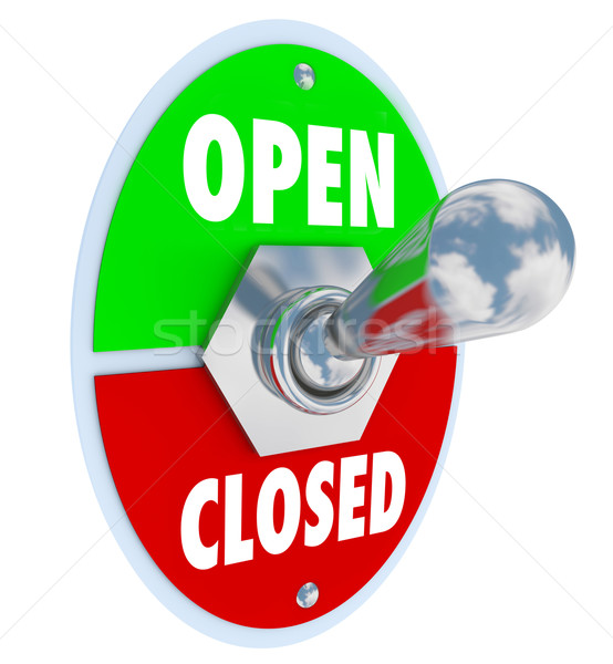 Open Vs Closed Toggle Switch Opening Store Business Stock photo © iqoncept
