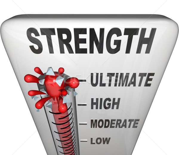 Strength Level Measured on Thermometer Ultimate Strong Stock photo © iqoncept