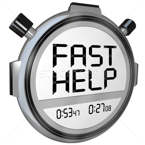 Fast Help Customer Support Stopwatch Timer Clock Stock photo © iqoncept