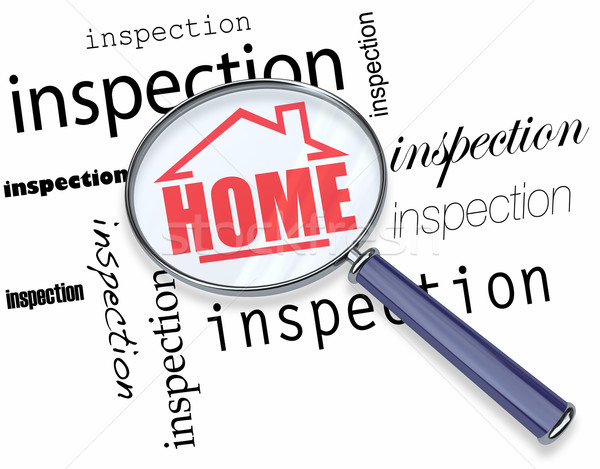 Home Inspection - Magnifying Glass Stock photo © iqoncept
