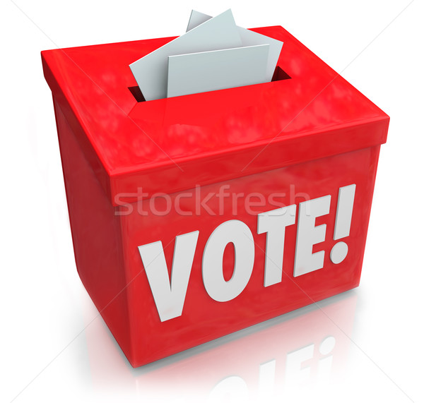 Vote Word Ballot Box Election Democracy Stock photo © iqoncept