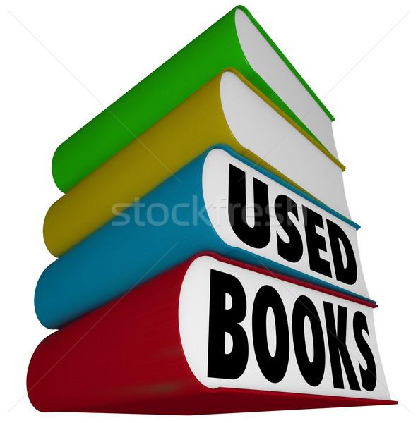 Használt könyvek boglya köteg elad vásárol Stock fotó © iqoncept