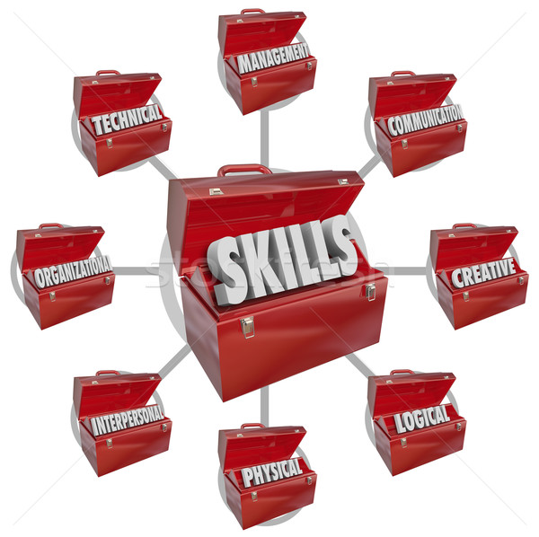Skills Toolboxes Desirable Characteristics Hiring for Job Stock photo © iqoncept