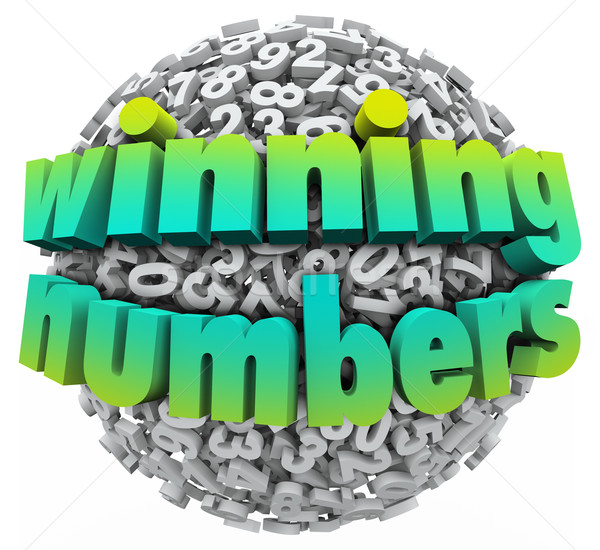 Winning Numbers Ball Lottery Jackpot Game Sweepstakes Stock photo © iqoncept