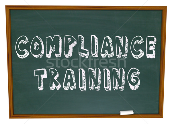 Compliance Training Words Chalkboard Stock photo © iqoncept