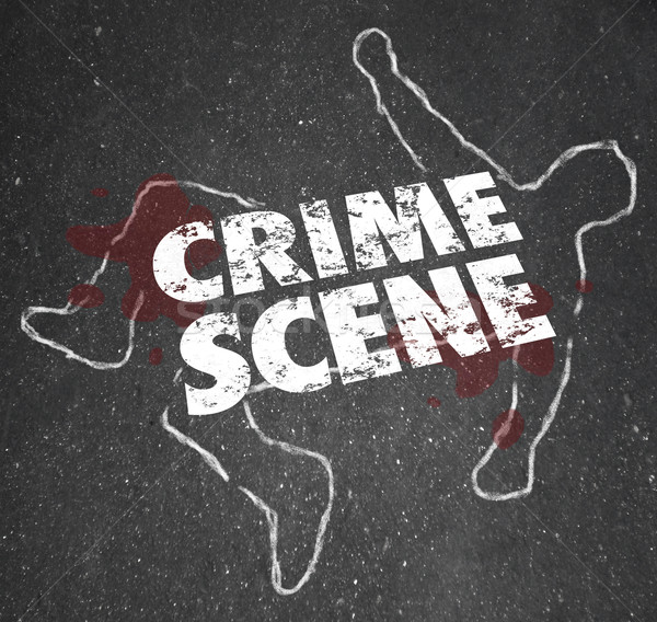 Crime Scene Violent Murder Homicide Forbidden Area Stock photo © iqoncept
