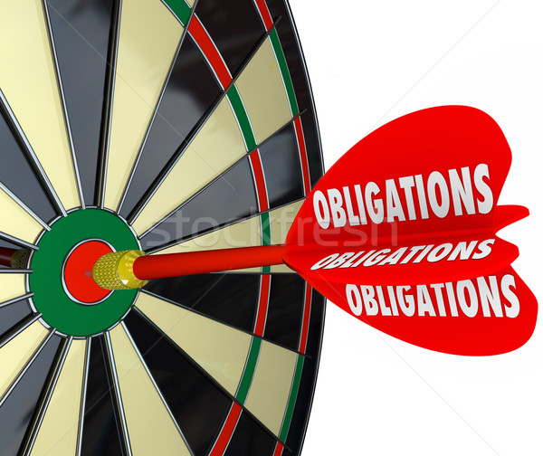 Obligations Dart Board Success in Meeting Responsibilities Stock photo © iqoncept