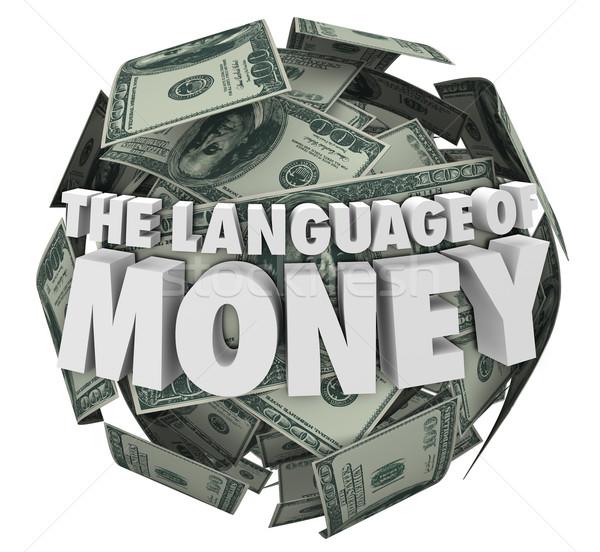Nyelv pénz pénzügy költségvetést készít könyvelés tanul Stock fotó © iqoncept