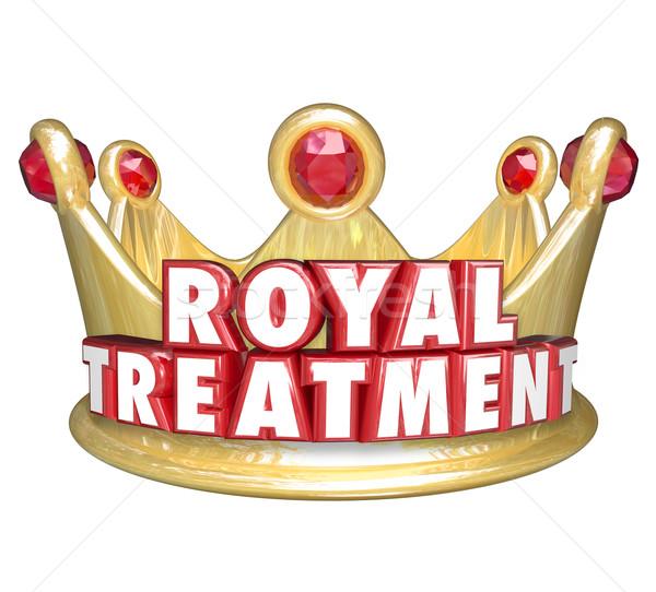 королевский лечение золото корона vip специальный Сток-фото © iqoncept