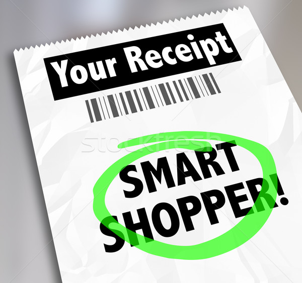 Smart Shopper Store Receipt Words Circled Spending Money Wisely Stock photo © iqoncept