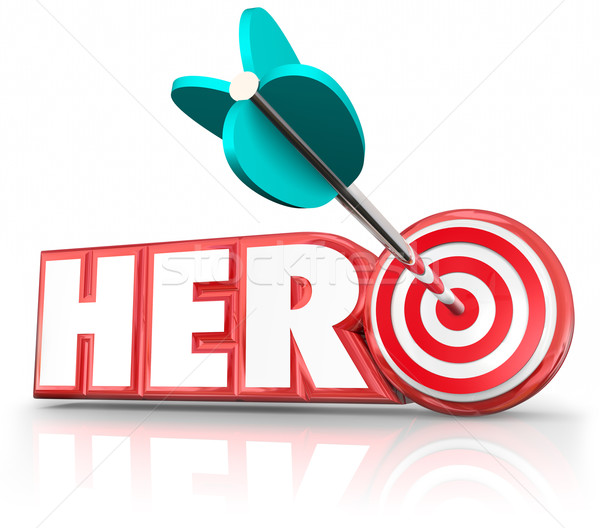 Hero Arrow Target Word Super Savior Role Model Stock photo © iqoncept