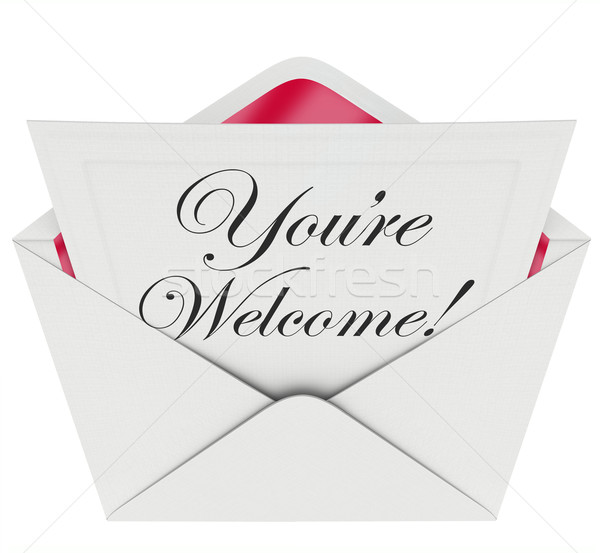 You're Welcome Words Letter Message Appreciation Recognition Stock photo © iqoncept