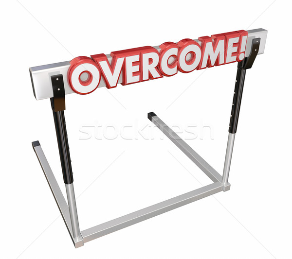 Overcome Jump Over Hurdle Challenge Goal Stock photo © iqoncept