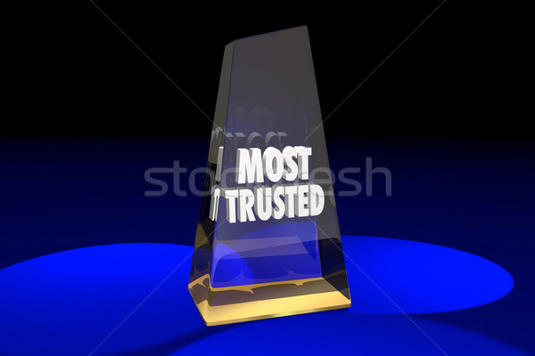 Most Trusted Trustworthy Reputation Award Words 3d Illustration Stock photo © iqoncept