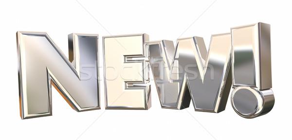 új izgalmas közlemény nagy üzlet szó Stock fotó © iqoncept