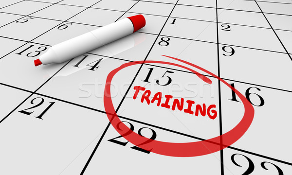 Training Education Learning Class Calendar 3d Illustration Stock photo © iqoncept