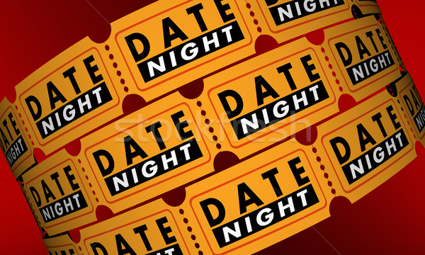 Date Night Tickets Romantic Evening Out Movie 3d Illustration Stock photo © iqoncept