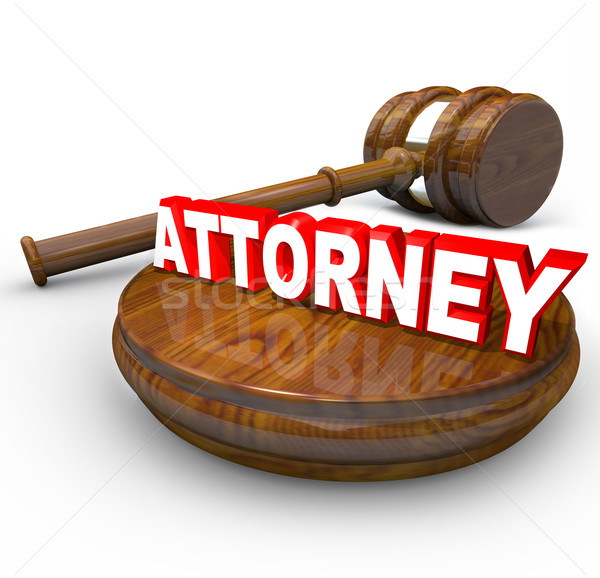 Attorney Word Wooden Gavel - Find Lawyer for Your Case Stock photo © iqoncept