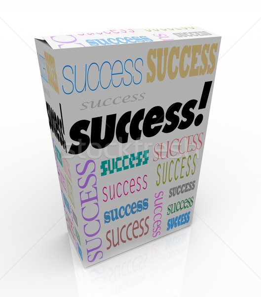 Success - A Product Box Offers Instant Self Improvement Stock photo © iqoncept
