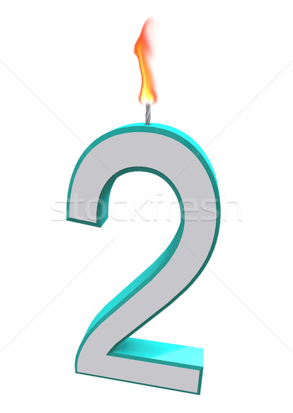 Number Two Candle Stock photo © iqoncept