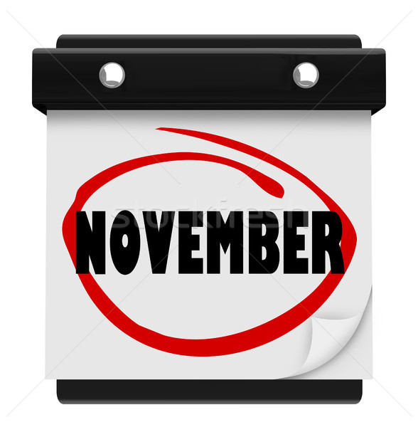 November Word Wall Calendar Change Month Schedule Stock photo © iqoncept