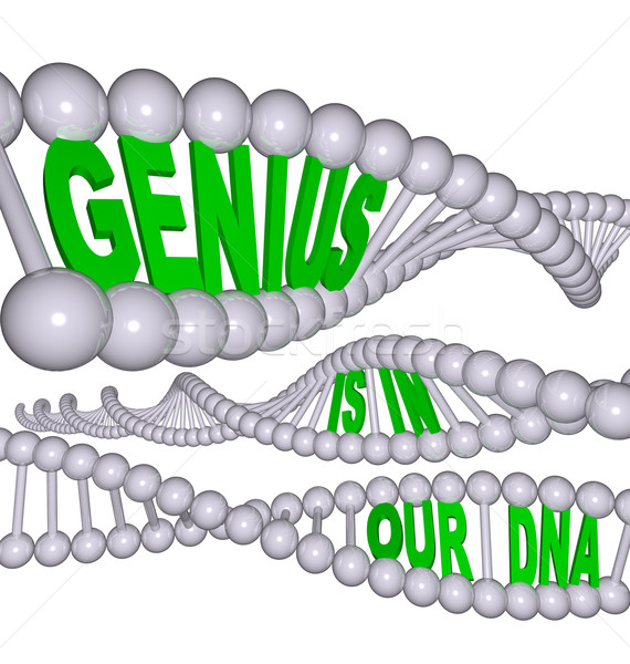 Genius is in Our DNA Stock photo © iqoncept