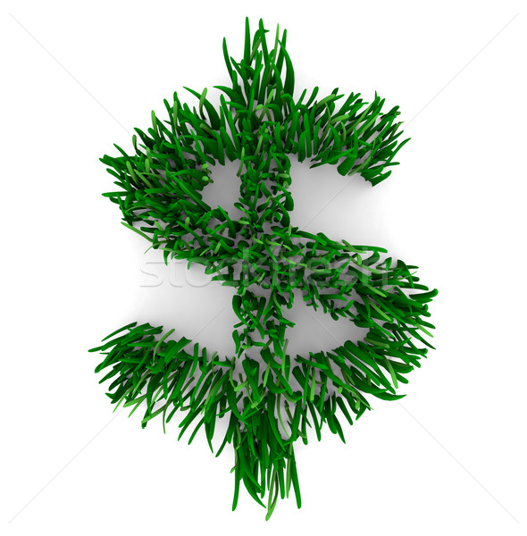 Grassy Dollar Sign Stock photo © iqoncept