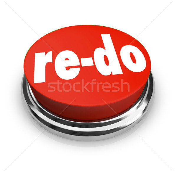 Re-Do Red Button Redo Change Revision Improvement Stock photo © iqoncept
