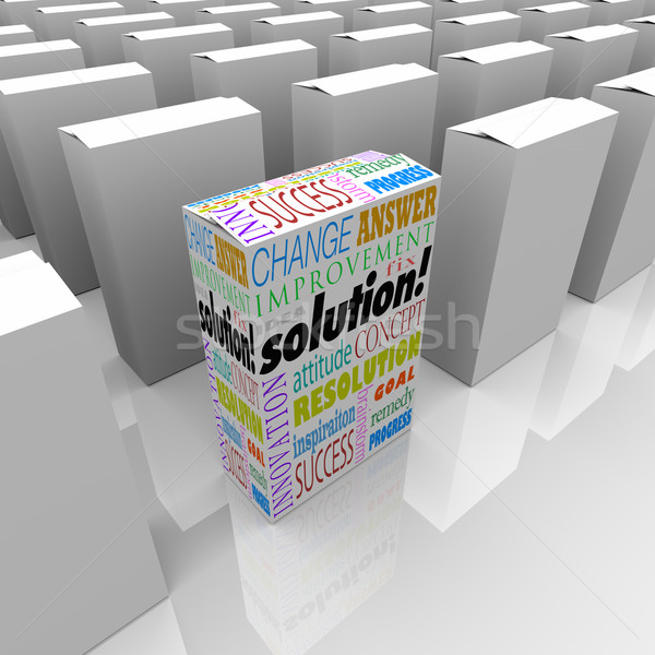 Off the Shelf Solution Unique Product Box Stands Out Best Stock photo © iqoncept