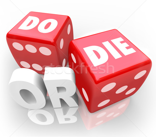 Do or Die Dice Final Outcome Result Gambling Stock photo © iqoncept
