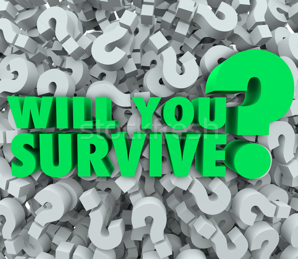 Will You Survive Question Mark Background Endurance Survival Stock photo © iqoncept
