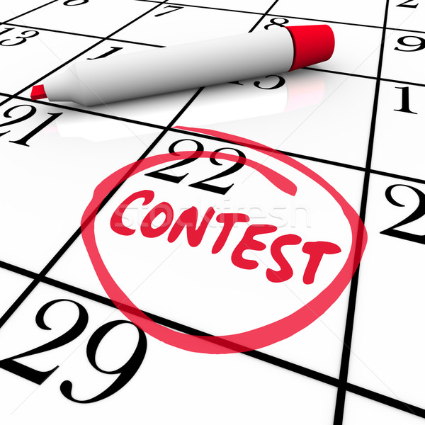 Stock photo: Contest Calendar Date Circled Reminder Entry Deadline Win