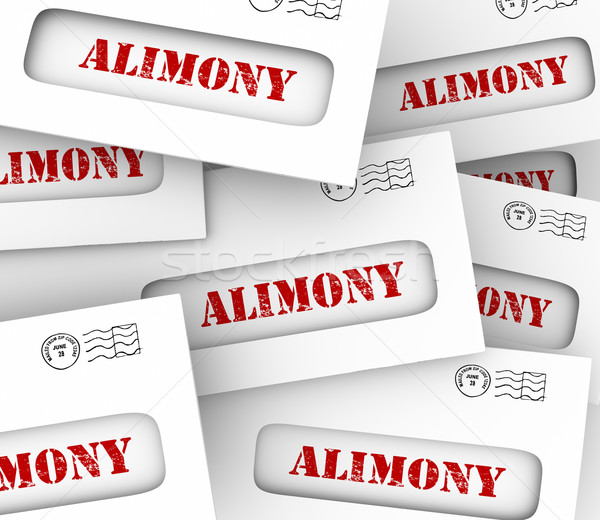 Alimony Envelopes Payments Spousal Support Legal Obligation Stock photo © iqoncept