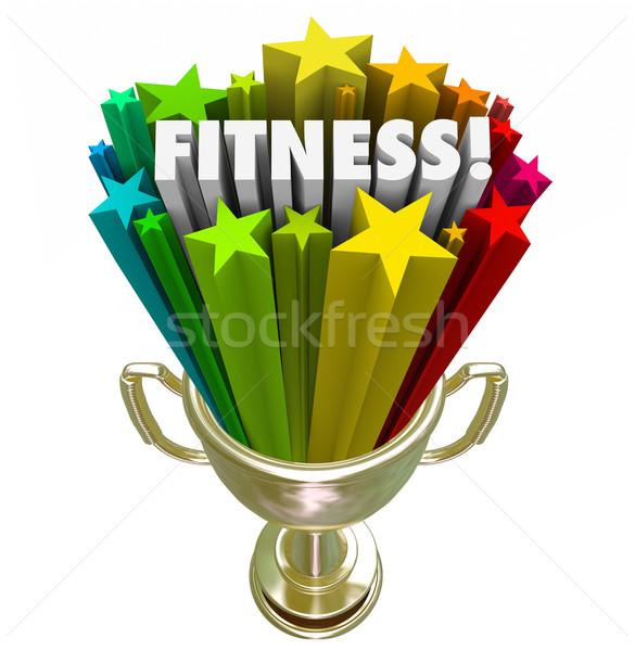 Fitness adjudicación trofeo ganador superior puntuación Foto stock © iqoncept